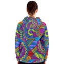 Pop Art Paisley Flowers Ornaments Multicolored Women s Zipper Hoodie View2