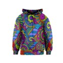 Pop Art Paisley Flowers Ornaments Multicolored Kids  Zipper Hoodie View1