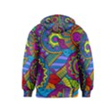 Pop Art Paisley Flowers Ornaments Multicolored Kids  Zipper Hoodie View2