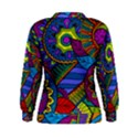 Pop Art Paisley Flowers Ornaments Multicolored Women s Sweatshirt View2