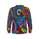 Pop Art Paisley Flowers Ornaments Multicolored Kids  Sweatshirt View2