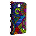 Pop Art Paisley Flowers Ornaments Multicolored Samsung Galaxy Tab 4 (7 ) Hardshell Case  View3
