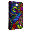 Pop Art Paisley Flowers Ornaments Multicolored Samsung Galaxy Tab 4 (8 ) Hardshell Case  View3