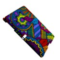 Pop Art Paisley Flowers Ornaments Multicolored Samsung Galaxy Tab S (10.5 ) Hardshell Case  View5