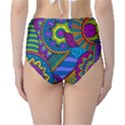 Pop Art Paisley Flowers Ornaments Multicolored High-Waist Bikini Bottoms View2