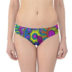 Pop Art Paisley Flowers Ornaments Multicolored Hipster Bikini Bottoms