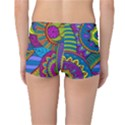 Pop Art Paisley Flowers Ornaments Multicolored Reversible Boyleg Bikini Bottoms View4