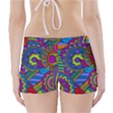 Pop Art Paisley Flowers Ornaments Multicolored Boyleg Bikini Wrap Bottoms View2