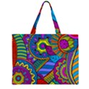 Pop Art Paisley Flowers Ornaments Multicolored Large Tote Bag View2