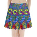 Pop Art Paisley Flowers Ornaments Multicolored Pleated Mini Skirt View1