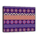 Colorful Winter Pattern Canvas 16  x 12  View1