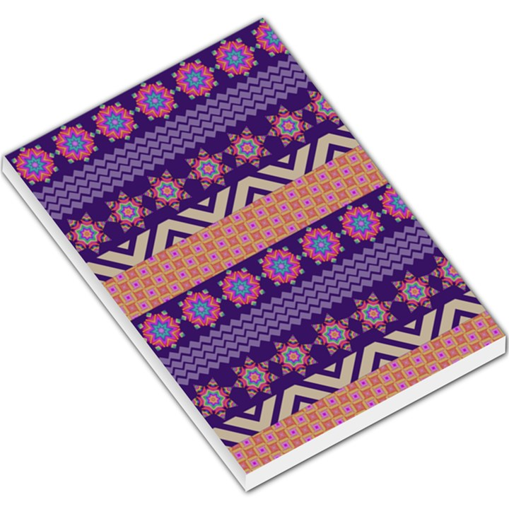 Colorful Winter Pattern Large Memo Pads