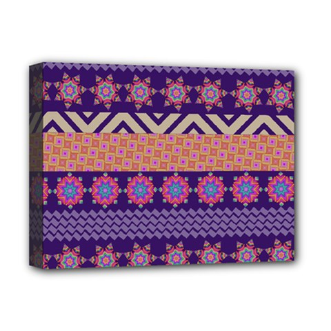 Colorful Winter Pattern Deluxe Canvas 16  X 12