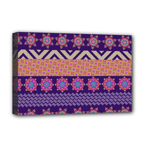 Colorful Winter Pattern Deluxe Canvas 18  x 12