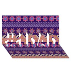 Colorful Winter Pattern #1 DAD 3D Greeting Card (8x4)