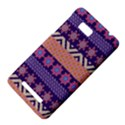 Colorful Winter Pattern HTC One SU T528W Hardshell Case View4