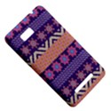 Colorful Winter Pattern HTC One SU T528W Hardshell Case View5