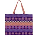 Colorful Winter Pattern Large Tote Bag View1