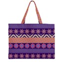 Colorful Winter Pattern Large Tote Bag View2