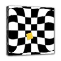 Dropout Yellow Black And White Distorted Check Mini Canvas 8  x 8  View1