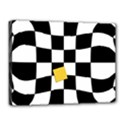 Dropout Yellow Black And White Distorted Check Canvas 16  x 12  View1