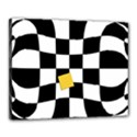 Dropout Yellow Black And White Distorted Check Canvas 20  x 16  View1