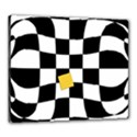 Dropout Yellow Black And White Distorted Check Canvas 24  x 20  View1