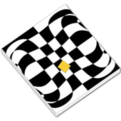 Dropout Yellow Black And White Distorted Check Small Memo Pads