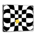 Dropout Yellow Black And White Distorted Check Deluxe Canvas 24  x 20   View1
