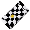 Dropout Yellow Black And White Distorted Check HTC Radar Hardshell Case  View4