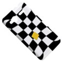 Dropout Yellow Black And White Distorted Check HTC Radar Hardshell Case  View5