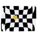 Dropout Yellow Black And White Distorted Check Kindle Touch 3G View1