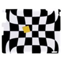 Dropout Yellow Black And White Distorted Check Apple iPad 2 Hardshell Case View1