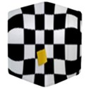 Dropout Yellow Black And White Distorted Check Apple iPad 3/4 Flip Case View4