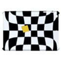 Dropout Yellow Black And White Distorted Check Apple iPad Mini Hardshell Case View1