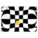 Dropout Yellow Black And White Distorted Check Samsung Galaxy Tab 10.1  P7500 Flip Case View1