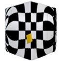 Dropout Yellow Black And White Distorted Check Samsung Galaxy Tab 10.1  P7500 Flip Case View4