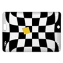 Dropout Yellow Black And White Distorted Check Amazon Kindle Fire HD (2013) Hardshell Case View1
