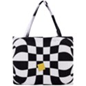 Dropout Yellow Black And White Distorted Check Mini Tote Bag View1