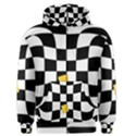 Dropout Yellow Black And White Distorted Check Men s Zipper Hoodie View1