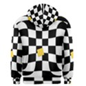 Dropout Yellow Black And White Distorted Check Men s Zipper Hoodie View2