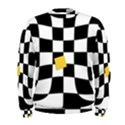 Dropout Yellow Black And White Distorted Check Men s Sweatshirt View1