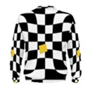 Dropout Yellow Black And White Distorted Check Men s Sweatshirt View2