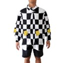 Dropout Yellow Black And White Distorted Check Wind Breaker (Kids) View1