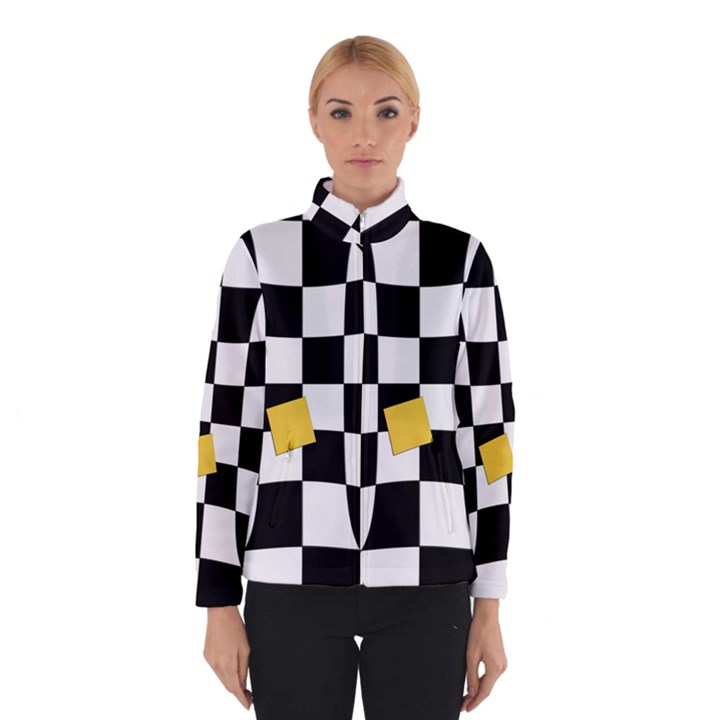 Dropout Yellow Black And White Distorted Check Winterwear