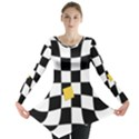 Dropout Yellow Black And White Distorted Check Long Sleeve Tunic  View1