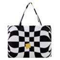 Dropout Yellow Black And White Distorted Check Medium Tote Bag View1