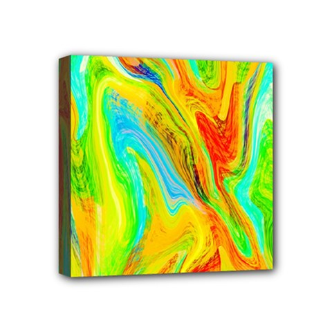 Happy Multicolor Painting Mini Canvas 4  X 4