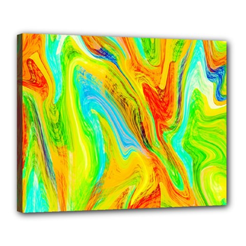 Happy Multicolor Painting Canvas 20  x 16