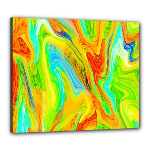Happy Multicolor Painting Canvas 24  x 20